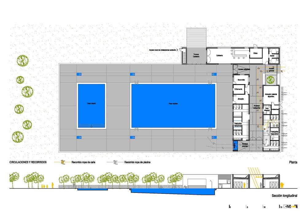 Reforma de vestiarios e piscina municipal en maceda ag for Plano piscina